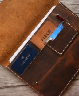 useful designer leather portfolio