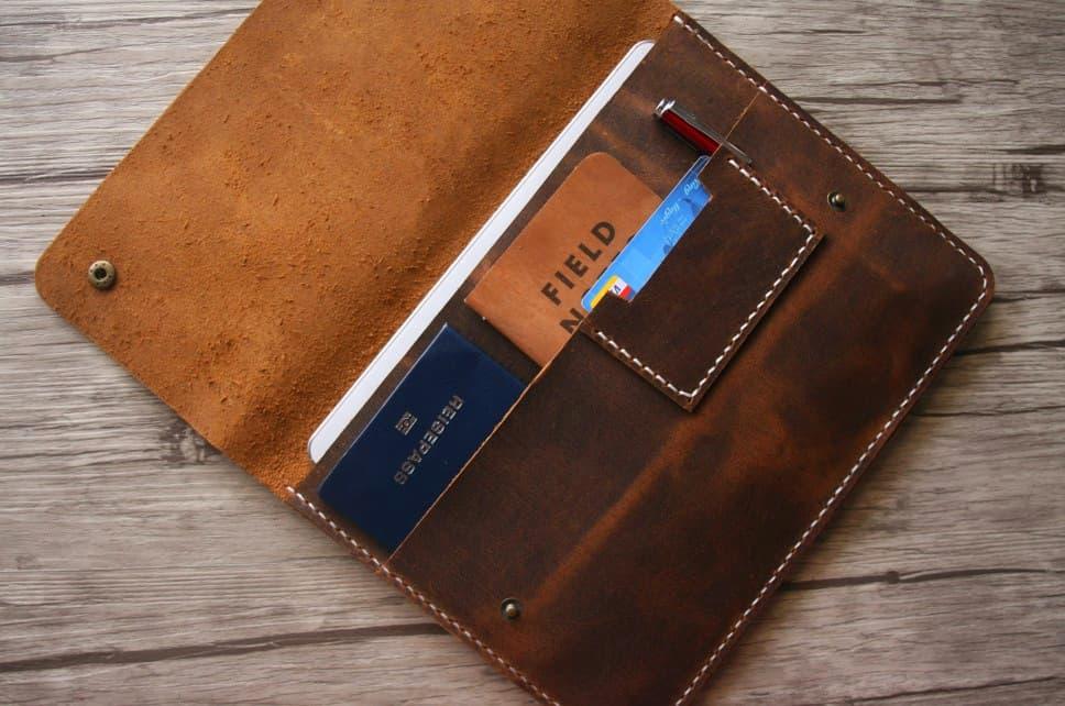 Designer Leather Portfolio Folder