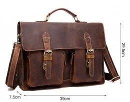 vintage leather briefcase document