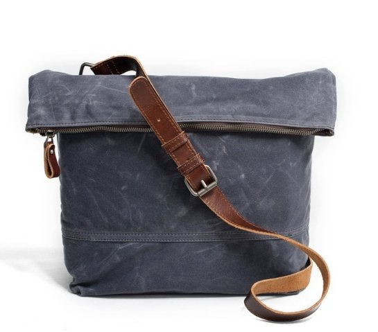 waxed canvas messenger bags