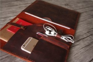 women leather portfolio