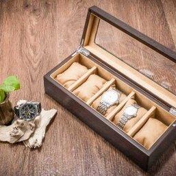 black wood watch box