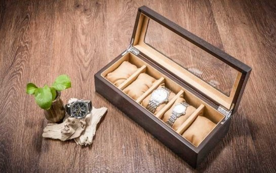 black wood watch box