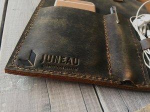 deeply deboss logos on leather