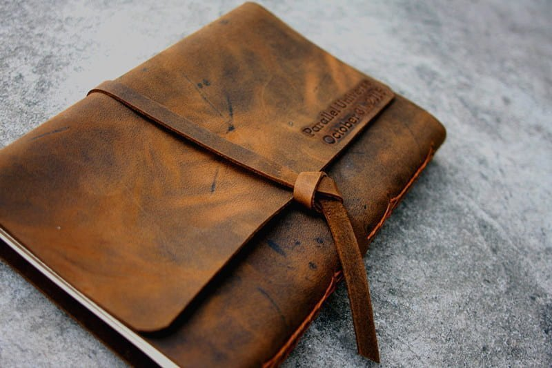 flixgifts personalized leather journal