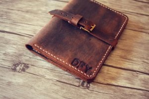 initials filed notes leather covers