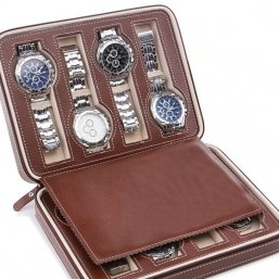 leather men watch holder