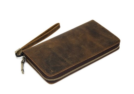 leather wallet women
