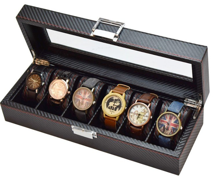 Carbon Fiber Personalized Mens Watch Box