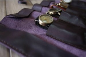 purple luxury watch case