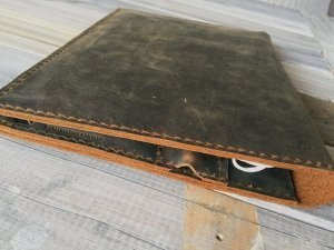 useful leather meeting portfolio