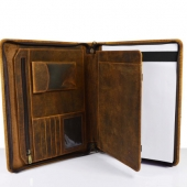 zipper leather portfolios