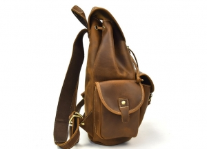 brown leather backpack purse