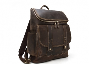 leather laptop backpack women's purse