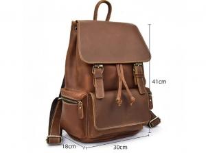 handmade leather backpack