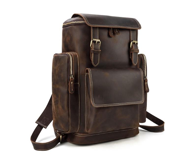 mens designer leather backpack