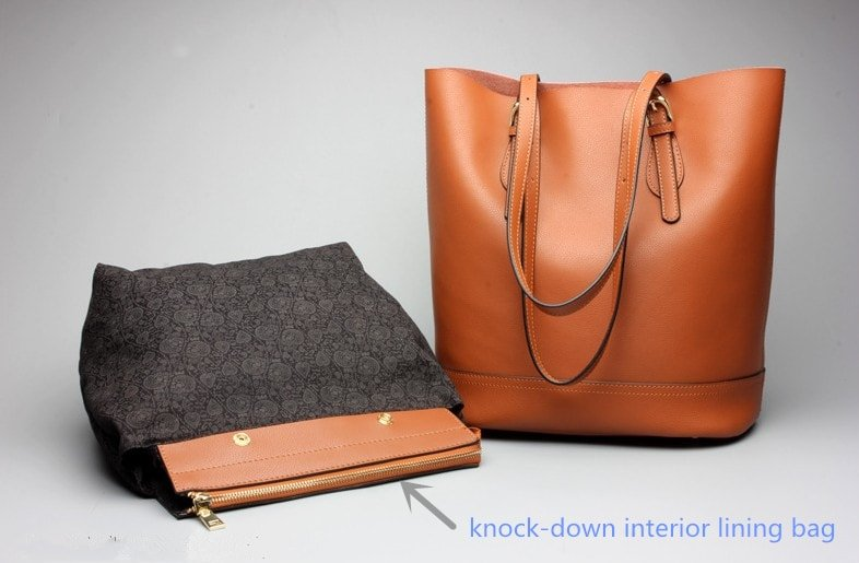 Black and brown tote handbag