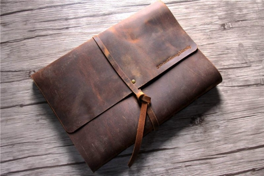 large leather journal vintage
