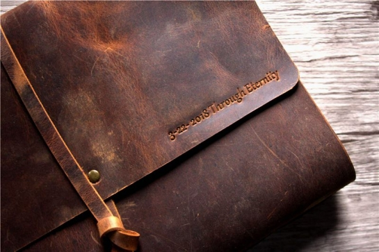 distressed leather journal notebook