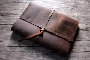 vintage leather journal custom notebook