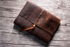 rustic leather bound notebook journao