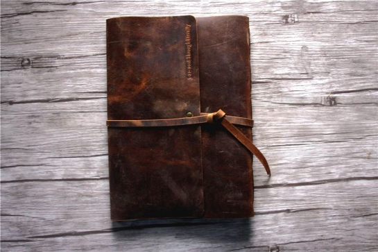 personalized leather journal lined paper