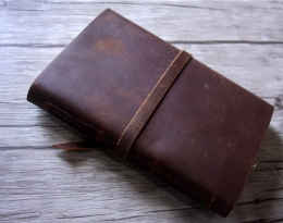 vintage brown leather journal custom