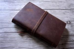 vintage brown leather journal custom