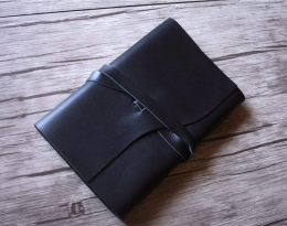 black leather bound journal notebook