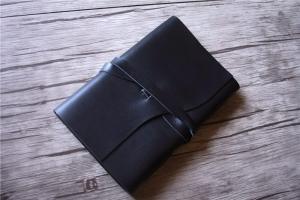 black leather bound journal notebook