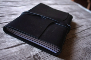 black mens leather notebook large
