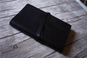 custom black leather notebook journal