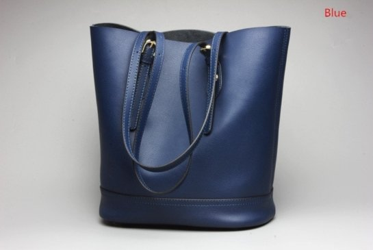 blue leather tote handbags