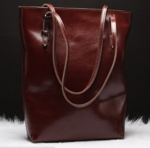 burgundy leather tote bags