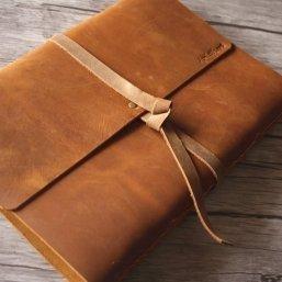 custom leather bound photo albums