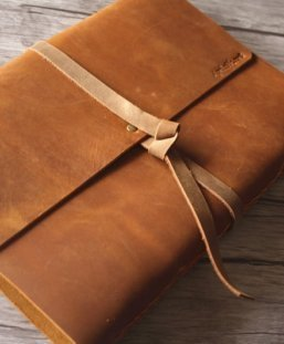 Personalized Leather Photo Albums Made By Flixgifts