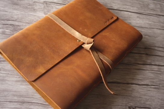 custom leather bound photo albums