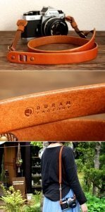 custom leather padd camera straps