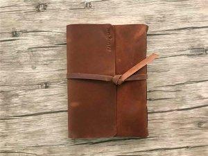 custom leather photo album bound