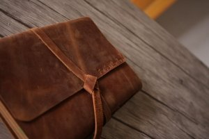 custom leather photograph albums