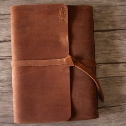 custom leather scrapbook albums