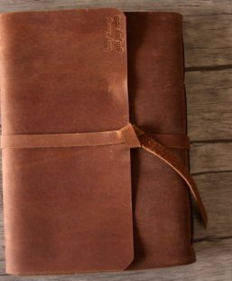 custom leather scrapbook albums