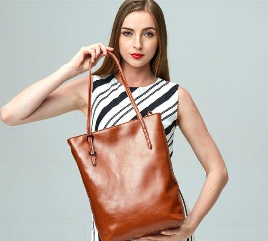 elegant leather tote handbags women