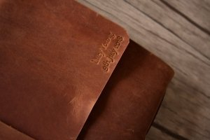 emboss on leather scrapbook albums