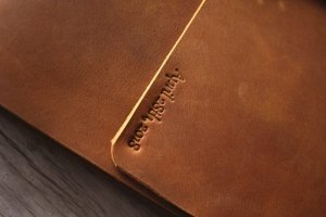 engraved leather bound photo albums