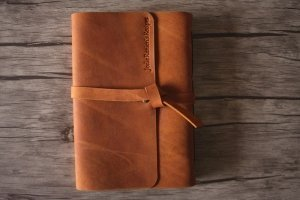 engraved lined journal leather