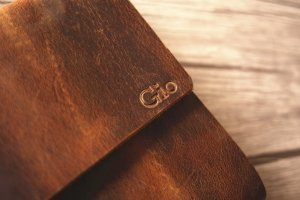 engraved photo album leather