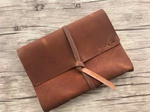 engraved photo album leather pattern