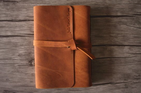 engraved real leather photo album