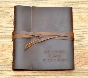 engraved wedding photo album